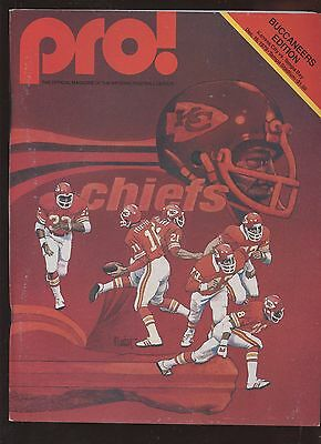 December 16 1979 NFL Program Kansas City Chiefs at Tampa Bay Buccaneers EXMT