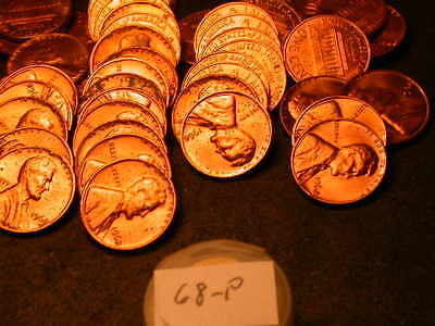 Full 50pc Roll 1968 P  Lincoln Cents  Unc/BU Coins!!!!