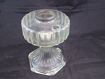 Vintage  Glass Oil Lamp Base for Aladdin Burner EAPG Beautiful Clear Condition