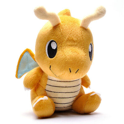 Yellow Doll Toy Gift Soft Pokemon Dragonite Lovely Pokedoll Stuffed Plush 7.5""