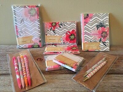 Target One Spot Flowers Journal List Pad Sticky Notes Pens Pencils Note Cards