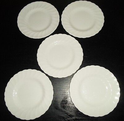 "(5) Tuscan WHITECLIFFE 6 1/2"" Bread & Butter Plates  England"