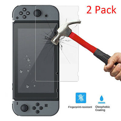 2PCS Tempered Glass / Soft Screen Protector Film for Nintendo Switch Conso lot