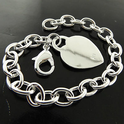 227 Genuine Real 925 Sterling Silver S/f Solid Ladies Heart Cuff Bracelet Bangle
