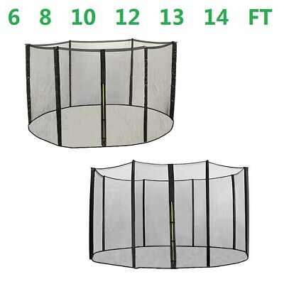Replacement Trampoline Safety Net Enclosure Surround 6Ft 8Ft 10Ft 12Ft 13Ft 14Ft