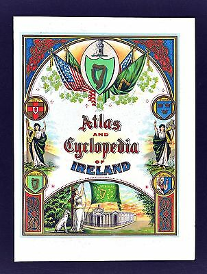 1900 Atlas and Enclopedia of Ireland Frontispiece & Title Page - Celtic Knots