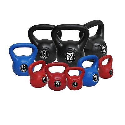 20kg Kettlebell Weight Set - Home Gym Training Kettle Bell Exercise - 8 Sets