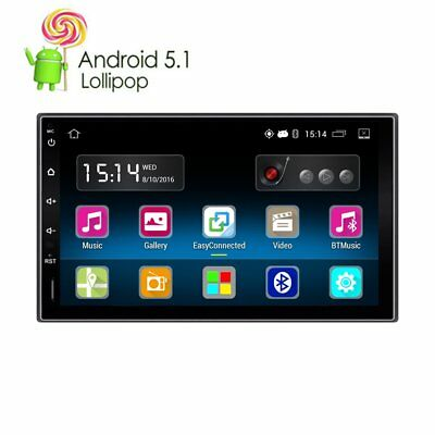 "7"" Double 2 DIN In-Dash Android 5.1 Stereo Car GPS WIFI Sat Nav Bluetooth PLAYER"
