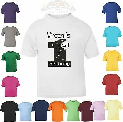 1st Birthday personalised with name TODDLER T SHIRT SIZE 1-2 YRS design 3