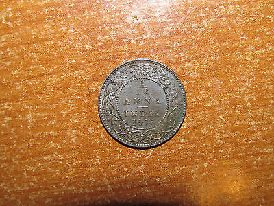 British India 1913 1/12 Anna coin Extremely Fine nice