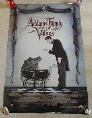 Adams Family Values  Original Cinema Us One Sheet Rolled Movie Poster From 1993