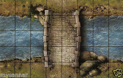 Dungeons /& Dragons ROOF CROSSING Gamemastery D/&D Pathfinder Map Tiles Rooftops