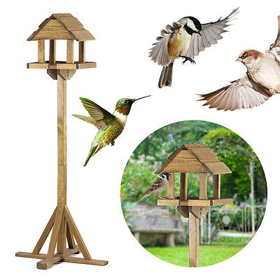 Chapelwood Premium Wooden Pine Bird Feeding Feeder Table Garden Patio Outdoor