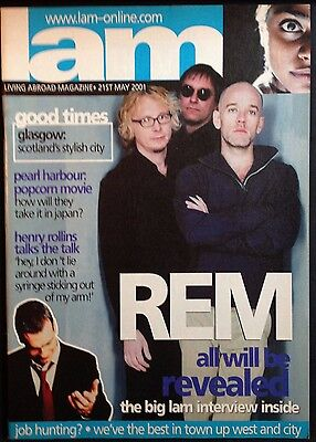 R.E.M. - LAM LIVING ABROAD MAGAZINE 21st May 2001. VINTAGE MAGAZINE. REM & AC/DC