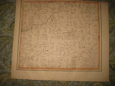 Antique 1874 Shalersville Freedom Township Portage County Ohio Handcolored Map