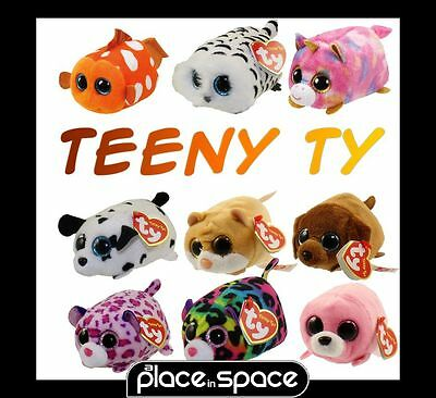 Ty Beanie Teeny Tys - Stackable Plush Pets - Unicorn, Cat, Owl, Tiger, Leopard
