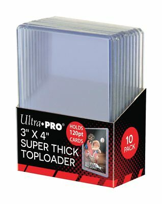 30 Ultra Pro 3x4 Thick Topload 120 pt Card Holders 3mm Opening