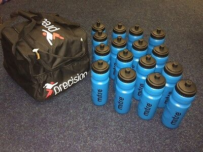 Water Bottle Bag with 16 x MITRE LARGE WATER BOTTLES  + TEAM NAME PRINTED
