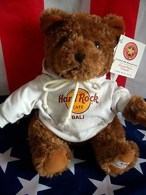HRC Hard Rock Cafe Bali Sweater Hoodie Bear 2009 LE Made by Herrington