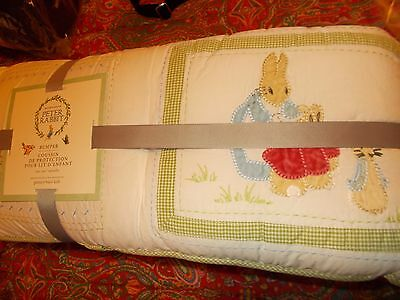 POTTERY BARN KIDS PETER RABBIT CRIB Bumper, NEW, ADORABLE, EASTER, SPRING