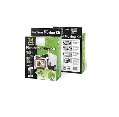 Picture Moving Kit Fits 6 Picture Frames Mirrors 24 Corners & Shrink Wrap B067