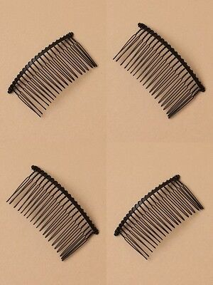 PACK OF 12 BLACK WIRE 7.5cm SIDE COMBS, HAIR ACCESSORY : SP-6380 PK12