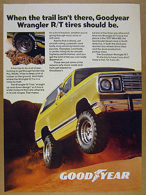 1977 Dodge Ramcharger yellow truck photo Goodyear Tires vintage print Ad