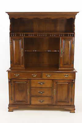 Tell City Young Republic Solid Hard Rock Maple Buffet Hutch China Sideboard