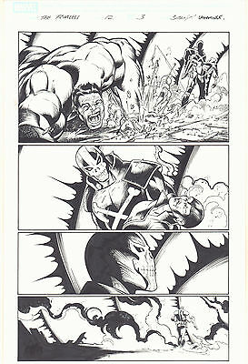 Fear Itself: The Fearless #12 p.3 - Hulk and Crossbones 2012 art by Mark Bagley