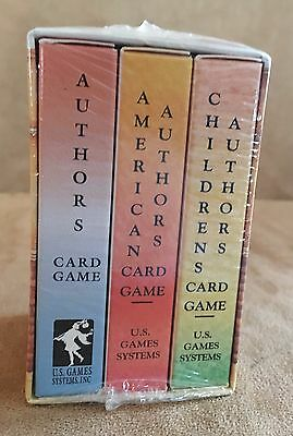 Authors Bookcase Card Game by Inc. U. S. Games System playing cards