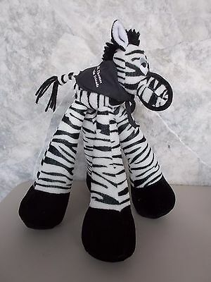 "Funky 12"" Stuffed Zebra St Thomas Virgin Islands Souvenir It's All Greek To Me"