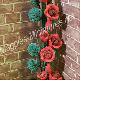 Dolls House 12th scale Red Climbing Roses