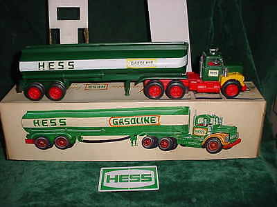 74 Marx Vintage Father's Day Collectible Hess Trucks 1974 Toy Tanker Truck Toy