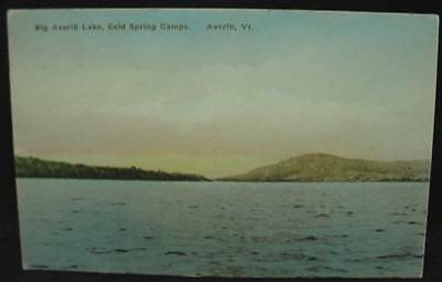 BIG AVERILL LAKE Cold Spring Camps AVERILL VT Postcard