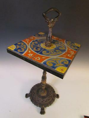 *exceptional* Antique California Art Pottery Tile Table