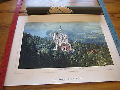 1952 Pan American World Airways Print With Letter Signed Willis Lipscomb Vp