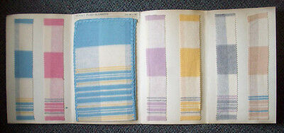 Sunset Plaid Blanket Nashua brochure original blanket fabrics advertising EX-2