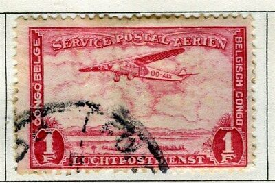 BELGIUM CONGO;  1934 early AIR issue used 1Fr. value