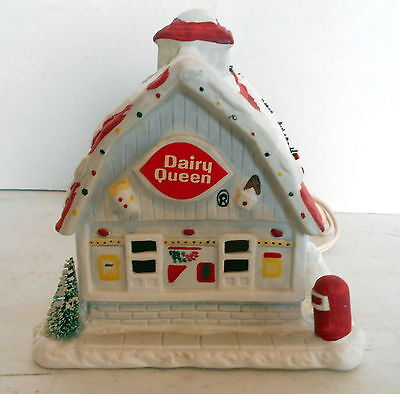Dairy Queen Lighted Village Ceramic Store By Hawthorne Village 1992
