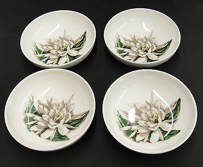"Santa Anita Flowers of Hawaii Night Blooming Cereus 4 7"" Soup Cereal Bowls Nice"