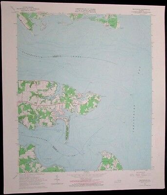 Deltaville Virginia Chesapeake Bay Piankatank River 1966 old USGS Topo chart
