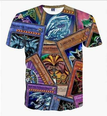New Fashion Women/Mens Games Player Yu-Gi-Oh Funny 3D Print Casual T-Shirt VD58