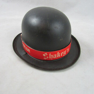 Shakeys Pizza Parlor Toy Bank Advertising Derby Hat w Bottom