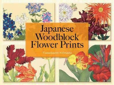 Japanese Woodblock Flower Prints by Tanigami Konan (English) Paperback Book Free