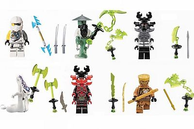 6 X Minifigures Flying Ninja Ninjago Zane Kozu Stone Warrior Blocks Toys Z047