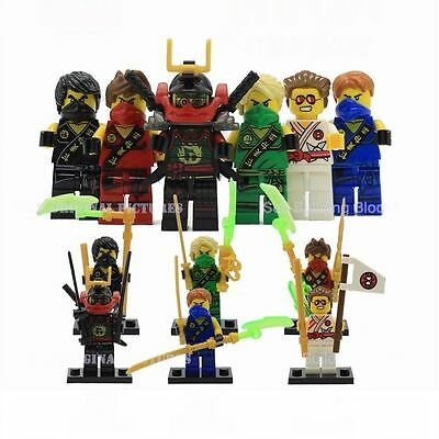 6 X Minifigures Flying Phantom Ninjago Lloyd Zane Kai Carffin Turner Blocks Z071