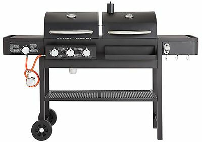 Dual Fuel Charcoal and Gas 3 Burner Combo Grill Steel BBQ - Black - From Argos