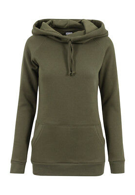 Urban Classics Ladies High Neck Raglan Hoody TB1526 Olive