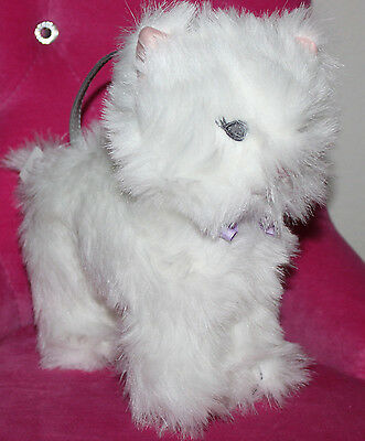 New Gap  white cat kitty purse handbag stands on his own persian girls
