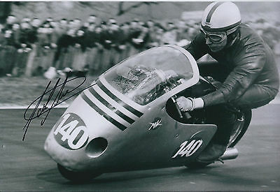 John Surtees SIGNED Autograph 12x8 Photo Racing Legend AFTAL COA @ Goodwood 2011